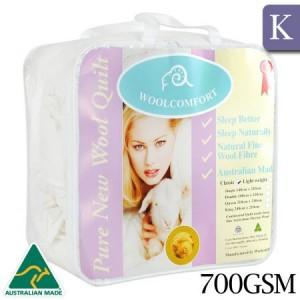 Australian Made 100% Merino Wool Quilt Doona Luxury 700GSM - King