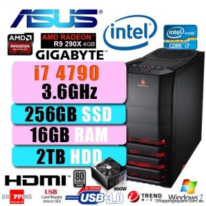 ASUS Gaming I7 4790 Win 7 Desktop PC