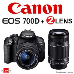 Canon EOS 700D 18-55MM STM & 55-250MM IS Double Lens Digital Camera