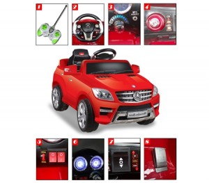 Kids Electric Ride On Mercedes-Benz 4matic ML350-Red