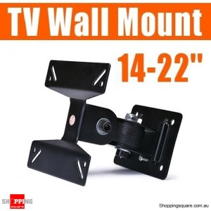 14-22'' LED LCD TV PC Monitor Wall Mount with Swivel Arms