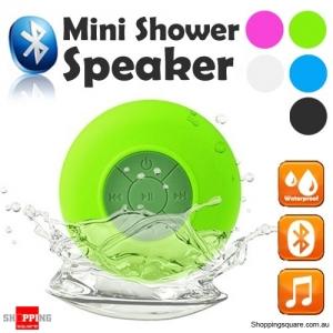 Waterproof Bluetooth Mini Shower Speaker Hands free Mic Speaker Green Colour