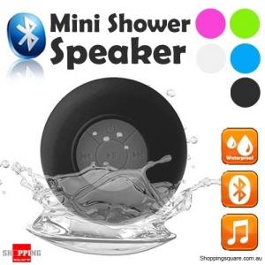 Waterproof Bluetooth Mini Shower Speaker Hands free Mic Speaker Black Colour