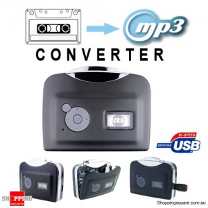 Portable Cassette To MP3 Converter, Tape to USB Drive - No PC Required