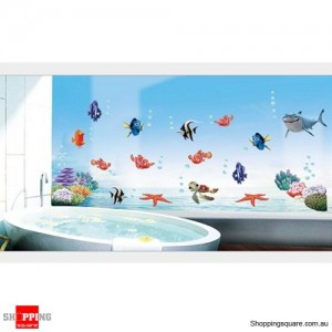 Super Fish Ocean Removable Nursery Wall Stickers Decal Home Kids Bedroom