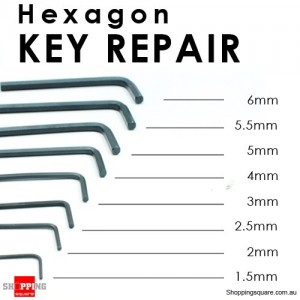 8 pcs Hexagon End Allen Key Repair Tool Set Kit