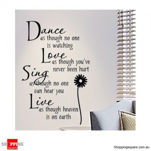 Dance Love Sing Live Removable Nursery Wall Stickers Decal Home Kids Bedroom