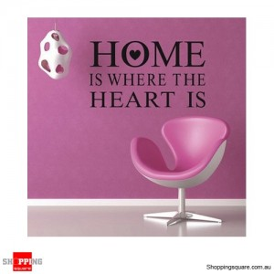 HOME Heart Removable Wall Stickers Decal Home Kids Bedroom