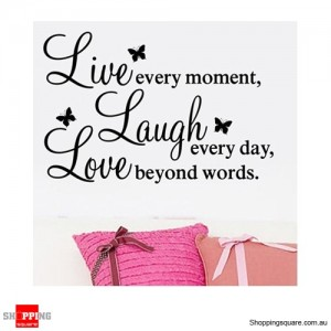 Live Laugh Love Removable Nursery Wall Stickers Decal Home Kids Bedroom