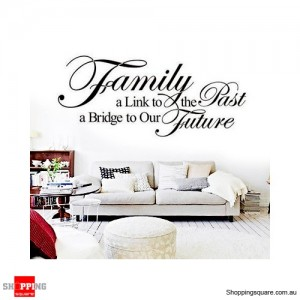 Family Link Removable Nursery Wall Stickers Decal Home Kids Bedroom