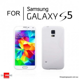 S Curve Transparent Case For Samsung Galaxy S5 Clear Colour