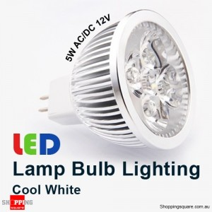 Cool White (6500K) 5W 12V MR16 LED Downlight Bright Lamp Bulb Lighting