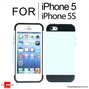 Hard Armor & Soft Gel Case Cover For iPhone 5S 5 White Colour
