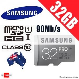 Samsung 32GB Pro MicroSDHC UHS-1 Card Class 10 Grade 1 90Mb/s Speed