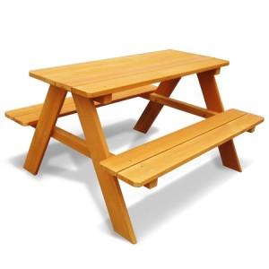 Kid Size Wooden Picnic Table