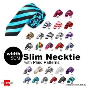 #26 Mens Necktie Tie Skinny Narrow Slim 5cm Plaid Patterns