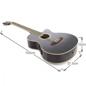 "39"" Electric Acoustic Cutaway Guitar Set & stand & Amplifier Black color"