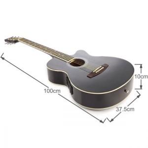 "39"" Electric Acoustic Cutaway Guitar Set & stand & Amplifier Black color"