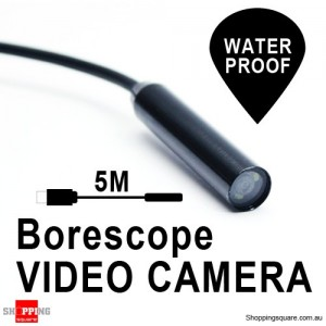 5m USB Borescope Endoscope Waterproof Inspection Tube Video Camera