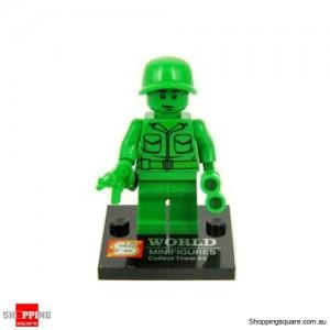 Green Army Man Bricks Man Mini Figure