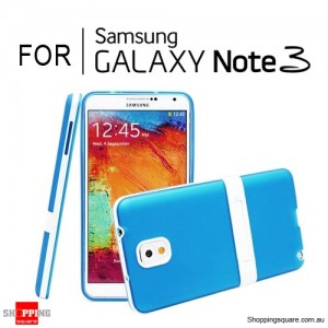 Soft Case Cover with Stand For Samsung Galaxy Note 3 N9000 Blue Colour