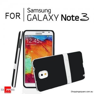 Soft Case Cover with Stand For Samsung Galaxy Note 3 N9000 Black Colour