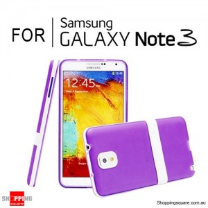 Soft Case Cover with Stand For Samsung Galaxy Note 3 N9000 Purple Colour