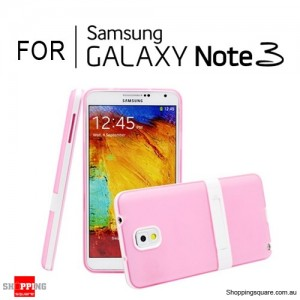Soft Case Cover with Stand For Samsung Galaxy Note 3 N9000 Pink Colour