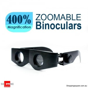 Zoomable Hands Free Binoculars With 400% Magnification Black Colour