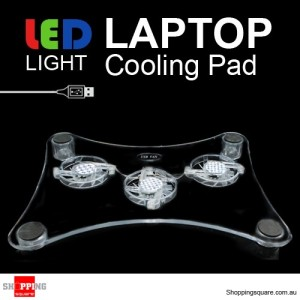 USB 3 Fans LED Laptop Cooling Pad