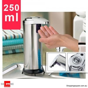 Stainless Steel Automatic Soap and Sanitizer Dispenser 250ml