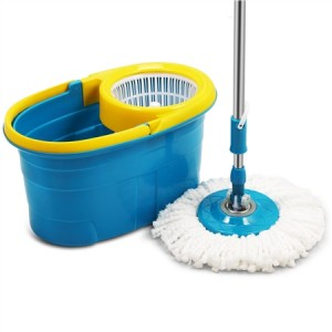 360 Degree Spin Mop & Spin Dry Bucket with 2 Mop Heads