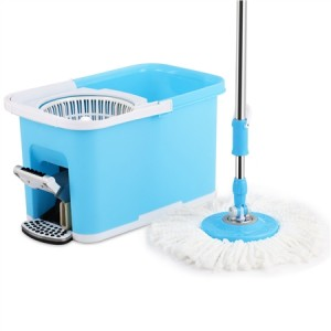 Deluxe 360 Degree Spin Mop & Spin Dry Bucket  Pedal  with 2 Mop Heads