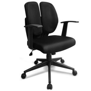 Ergonomic Split Back Chair without Headrest