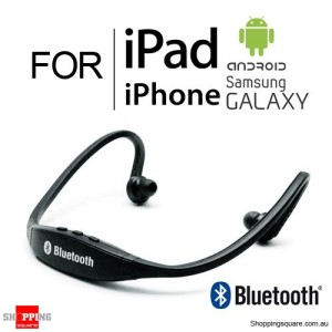 Modern Sports Bluetooth Wireless Headset Headphone for iPhone iPad Samsung Galaxy Android Black Colour
