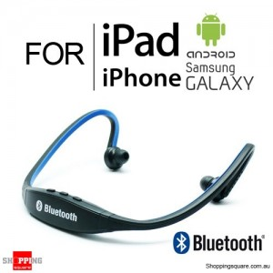 Modern Sports Bluetooth Wireless Headset Headphone for iPhone iPad Samsung Galaxy Android Blue Colour