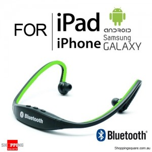 Modern Sports Bluetooth Wireless Headset Headphone for iPhone iPad Samsung Galaxy Android Green Colour