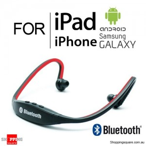 Modern Sports Bluetooth Wireless Headset Headphone for iPhone iPad Samsung Galaxy Android Red Colour