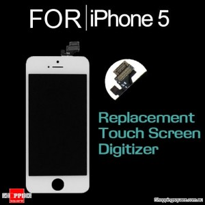 LCD Touch Screen Replacement Digitizer for iPhone 5 White Colour