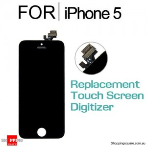 LCD Touch Screen Replacement Digitizer for iPhone 5 Black Colour