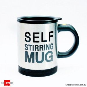Stainless Steel Automatic Self Stirring Mug for Coffee Tea Chocolate Soup