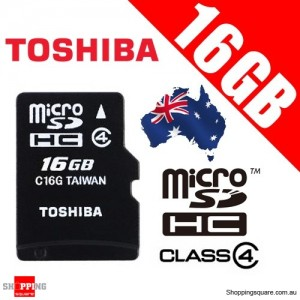 TOSHIBA 16G Micro SDHC Flash Memory Card High-Capacity