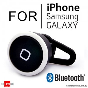 Mini Wireless Bluetooth Headset for iPhone Samsung Galaxy Phone Black With White Edge Colour