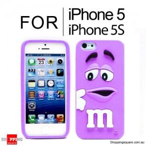 New Cute Soft Case Cover for iPhone SE 5S 5 Purple Colour