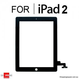 Replacement Front Glass Touch Screen w/ Digitizer for iPad 2 Black Colour - Repair Part