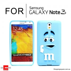 New Cute Soft Case Cover for Samsung Galaxy Note 3 N9000 Blue Colour