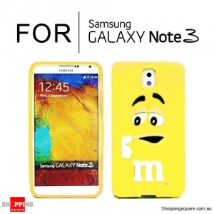 New Cute Soft Case Cover for Samsung Galaxy Note 3 N9000 Yellow Colour