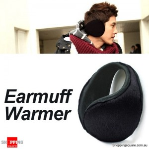 Soft Fleece Earmuff Warmer for Men Women Unisex Black Colour