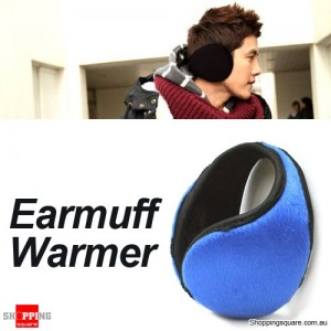 Soft Fleece Earmuff Warmer for Men Women Unisex Blue Colour