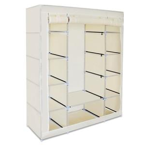 Beige 5-Level Non-Woven Cloth Storage Wardrobe
